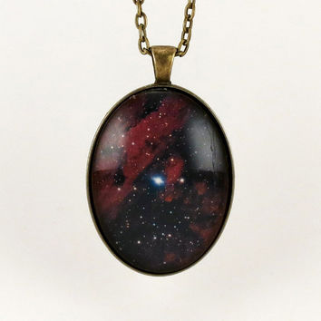Universe Galaxy Pendant Nebula Necklace Cosmic by cellsdividing