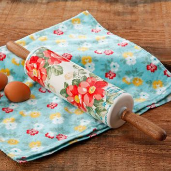 """The Pioneer Woman Vintage Floral 18.4"""" Rolling Pin - Walmart.com"""