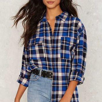 Plaid to the Bone Button-Up Shirt