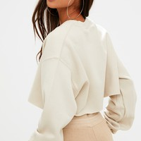 Sand Ultimate Cropped Sweater