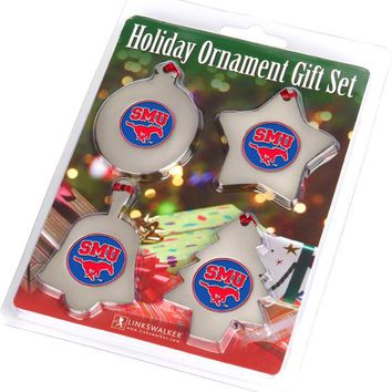 Southern Methodist University Mustangs Ornament Gift Pack