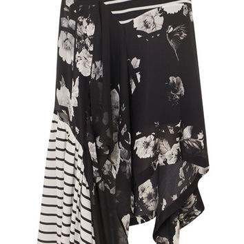 Preen by Thornton Bregazzi - Veronika paneled printed silk skirt