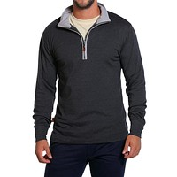 Puremeso Quarter Zip Pullover in Charcoal by The Normal Brand - FINAL SALE