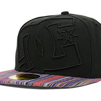 DC Shoes Coverage II New Era Fitted 59Fifty Black Multi Color Hat Cap Size 7 3/8