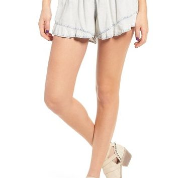 BP. Ruffle Chambray Shorts | Nordstrom