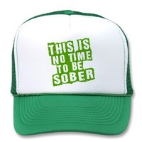 Funny St Patricks Day Drinking Humor Mesh Hat from Zazzle.com