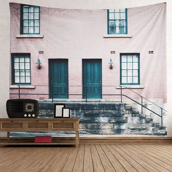 Wall Hanging Art Decor Vintage House Print Tapestry