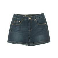 American Rag Womens Juniors Dark Wash Baked Creases Denim Shorts