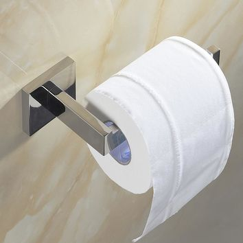 1pcs SUS 304 Stainless Steel Toilet Paper Holder Bathroom Toilet Roll Holder For Paper Towel Square Bathroom Accessories