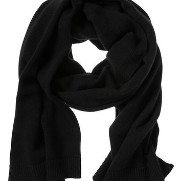 Banana Republic Todd & Duncan Plaited Cashmere Scarf Size One Size - Black