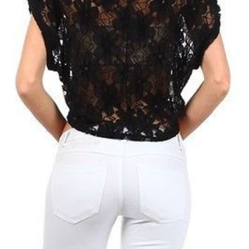 Sexy Boat Neck Floral Print Short Sleeve Cropped Hi-Low Hem Top Blouse