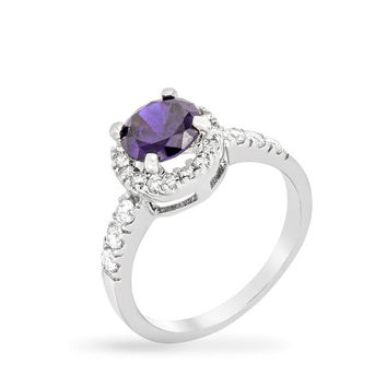 Tanzanite Purple Crown Ring