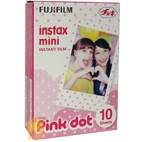 NEW BOXED FUJI INSTAX MINI FILM 1 PACK (10PCS ) / PINK DOT 4 8 7S 50S 25 90