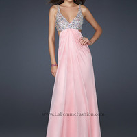 La Femme 17472 Cotton Candy Pink Embellished Gown Prom Dress Sz 00 to 8 New
