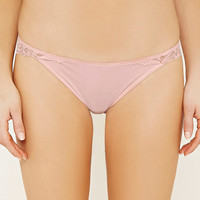 Scalloped Floral Lace Thong