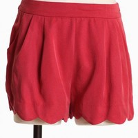 Sweet Cinnamon Pocket Shorts In Red | Modern Vintage Bottoms