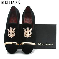 European style men wedding shoes MEIjiana Brand pointed toe gentleman classic business leather shoes
