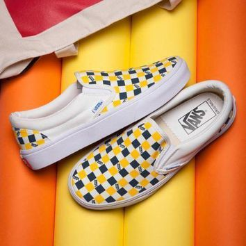 PEAPON VANS ERA Slip-On Canvas Old Skool Checkerboard Tartan Sneakers Sport Shoes