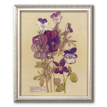 Art.com ''Wild Pansy'' Framed Art Print by Charles Rennie Mackintosh (Parma Champagne)