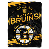 Boston Bruins NHL Royal Plush Raschel Blanket (Stamp Series) (60x80)