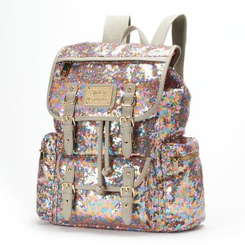 Juicy Couture Rainbow Sequin Backpack (Pink)