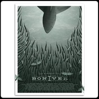 Bon Iver | 2012 European Tour Screenprint Poster (A2) | Art Print | Officially Licensed Music T shirts, Hoodies and other merchandise.
