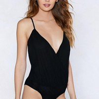 My Feet Deep Dancing Plunging Bodysuit