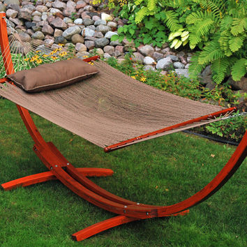 12' Arc Stand and Caribbean Hammock with Pillow by Algoma