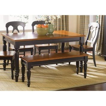 Dining Bench Wood Entryway Accent Settee Hallway Kitchen Furniture Black Bronze