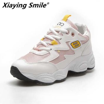 Xiaying Smile New arrival lady hot sales Spring and Autumn Breathable shoes women running shoes outdoor sport sneakers