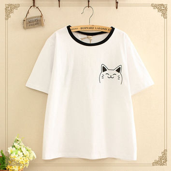 Print Short Sleeve T-shirts [11564612047]