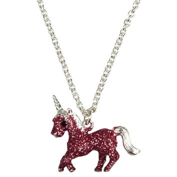 Glitter Unicorn Necklace | Girls Jewelry Accessories | Shop Justice