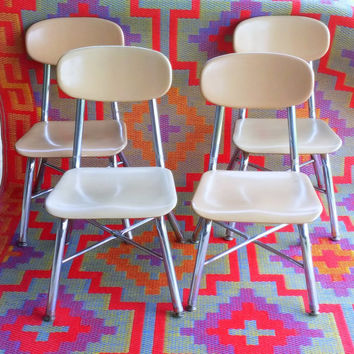 VINTAGE CHILDREN'S CHAIRS >> Mid Century Kids Furniture >>> Single, Pair, or Set >>> Preschool > School > Classroom > Bedroom > Playroom