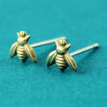 Bumble Bee Stud Earrings - Spiffing Jewelry