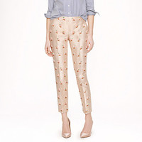 Collection café capri in embellished floral - j.crew collection - Women's pants - J.Crew