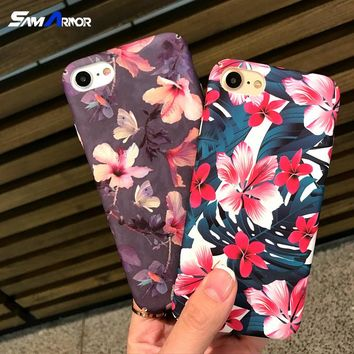Luxury Cartoon Camellia Coque For iPhone 6 6S 7 8 X Plus 5 5S SE FREE SHIPPING!