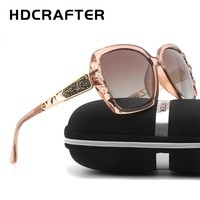Sunglasses New Arrival HDCRAFTER Luxury Brand Design oversized Women Polarized