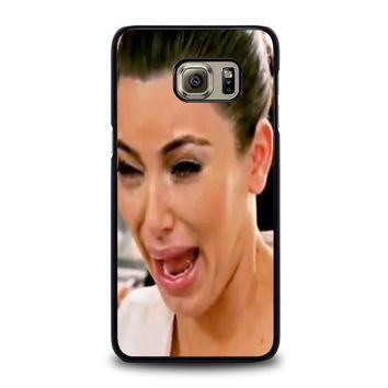 kim kardashian ugly crying face samsung galaxy s6 edge plus case cover  number 1