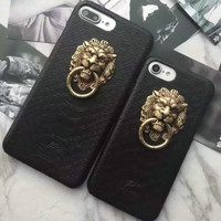 The Lion Head Leather Case For iphone 5 5S SE 6 6S 6Plus 6S Plus 7 7Plus Back Cover