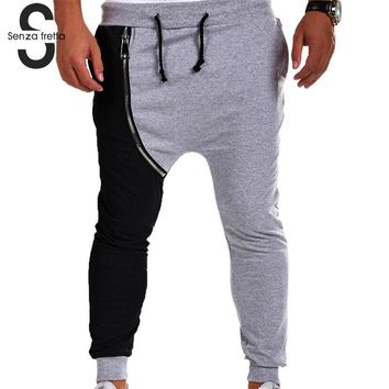 Senza Fretta Men Gyms Long Pants Cotton Men Sporting Workout Fitness Pants Casual Fashion Jogger Pant Skinny Trousers ME0871