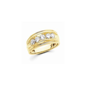 14k Yellow Gold Vs Diamond Ring Anniversary