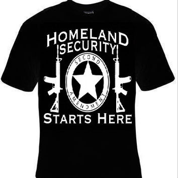 homeland security starts here t-shirt home land cool funny t-shirts gift present humor tee shirt