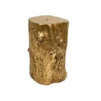 Metallic Resin Log Stool