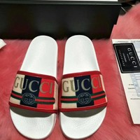 GUCCI 2018 new men and women fashion brand leisure wild high quality slippers F-ALS-XZ