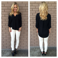 Black Natalie Blouse