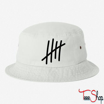 5 lines 5 times  birthday gift sport bucket hat