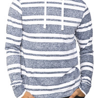Guys Reverse Print Striped Jersey Popover