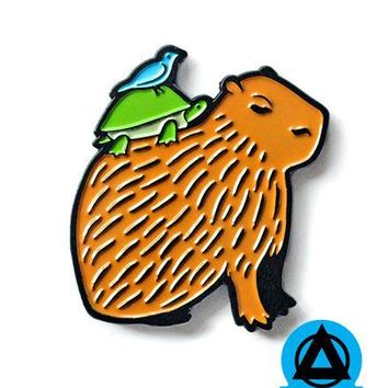 Chris Stedman - Friendly Capybara Pin