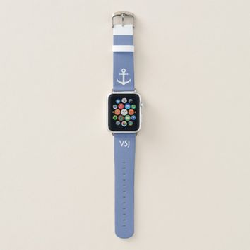 Custom Monogram Nautical Apple Watch Band