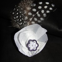 Classic style Black and White Flower Brooch by texaseagle